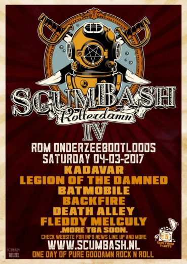 ScumBash 2017 announces first names: Legion Of The Damned, Backfire, Death Alley and more