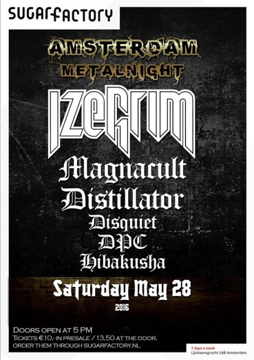 First edition of Amsterdam Metalnight with Izegrim and much more!