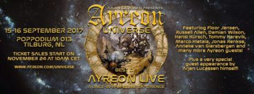 Ayreon live on stage for two exclusive shows!