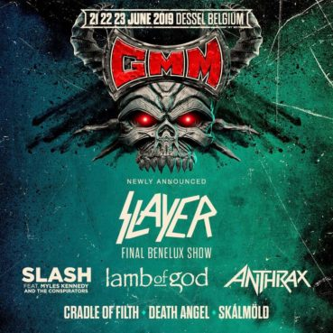 Slayer, Anthrax, Lamb of God and more announced for Graspop 2019!