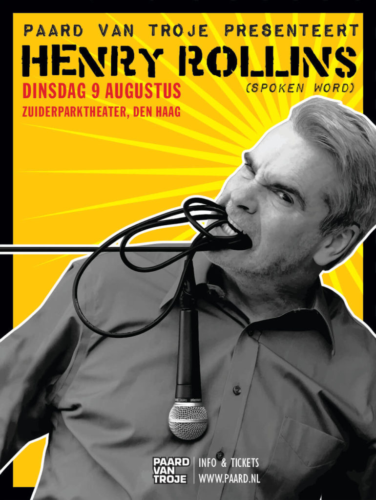 Win 2×2 tickets Henry Rollins – Zuiderparktheater Den Haag
