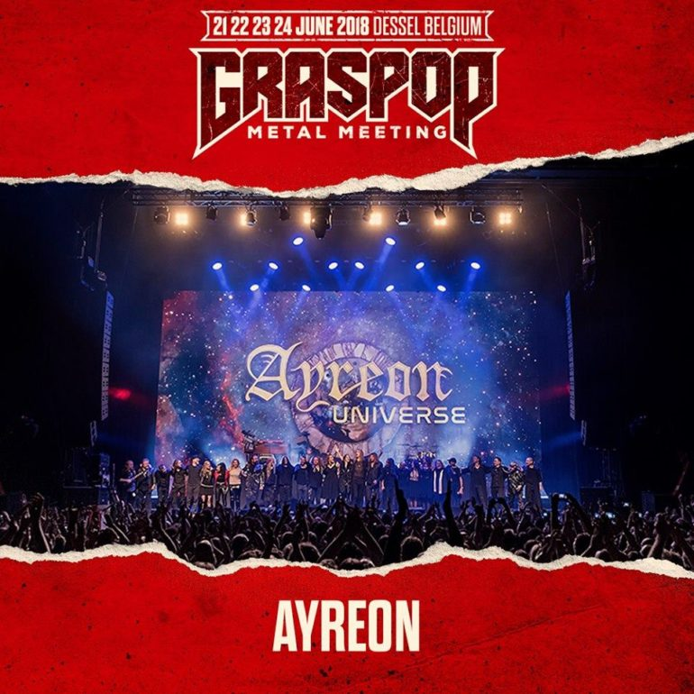 Line-up exclusive Ayreon show at Graspop 2018 complete