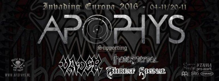 Apophys confirms European tour and launches brand new video 'Ego'