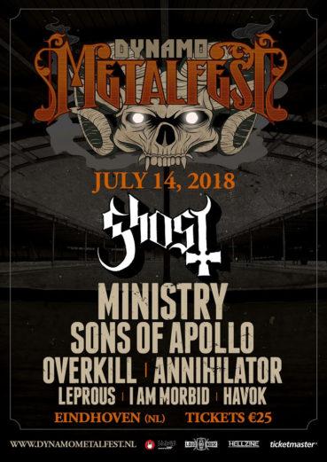 Ghost headliner Dynamo Metal Fest 2018