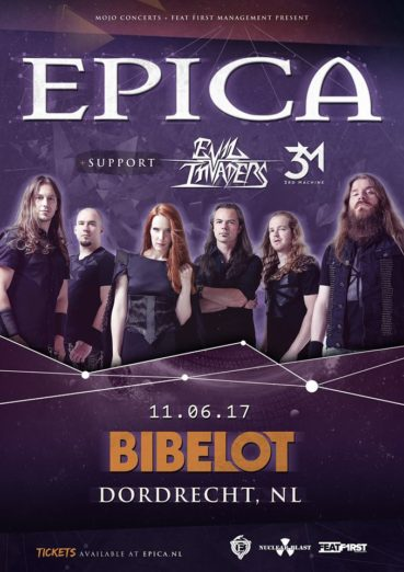 Epica announces exclusive Dutch show at Bibelot on June 11th, 2017