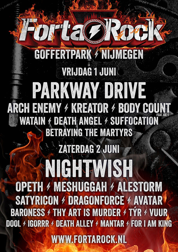 Fortarock line-up completed with DragonForce, TÝR, VUUR and more