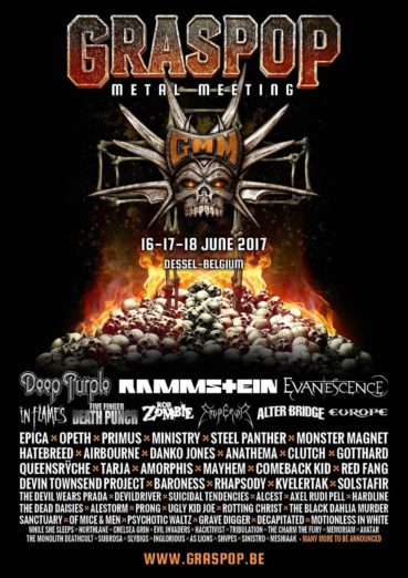 Epica, The Charm The Fury and The Monolith Deathcult first Dutch bands for Graspop 2017