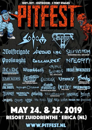 PitFest 2019 line-up completed with Sodom