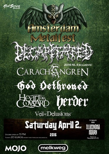 Herder, God Dethroned and more complete line-up Amsterdam Metalfest 2016