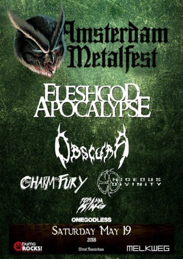 Amsterdam Metalfest 2018 comes up with Fleshgod Apocalypse and many others