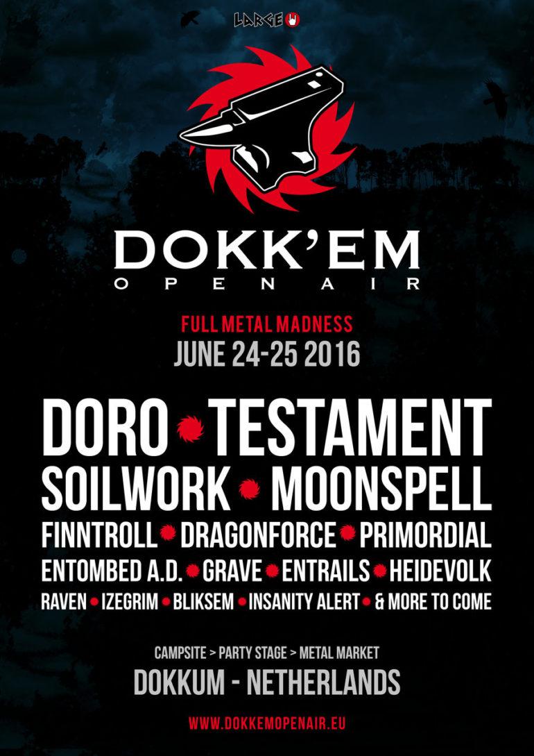 Frisian bands 13 Steps and Kjeld openers of Dokk'em Open Air 2016