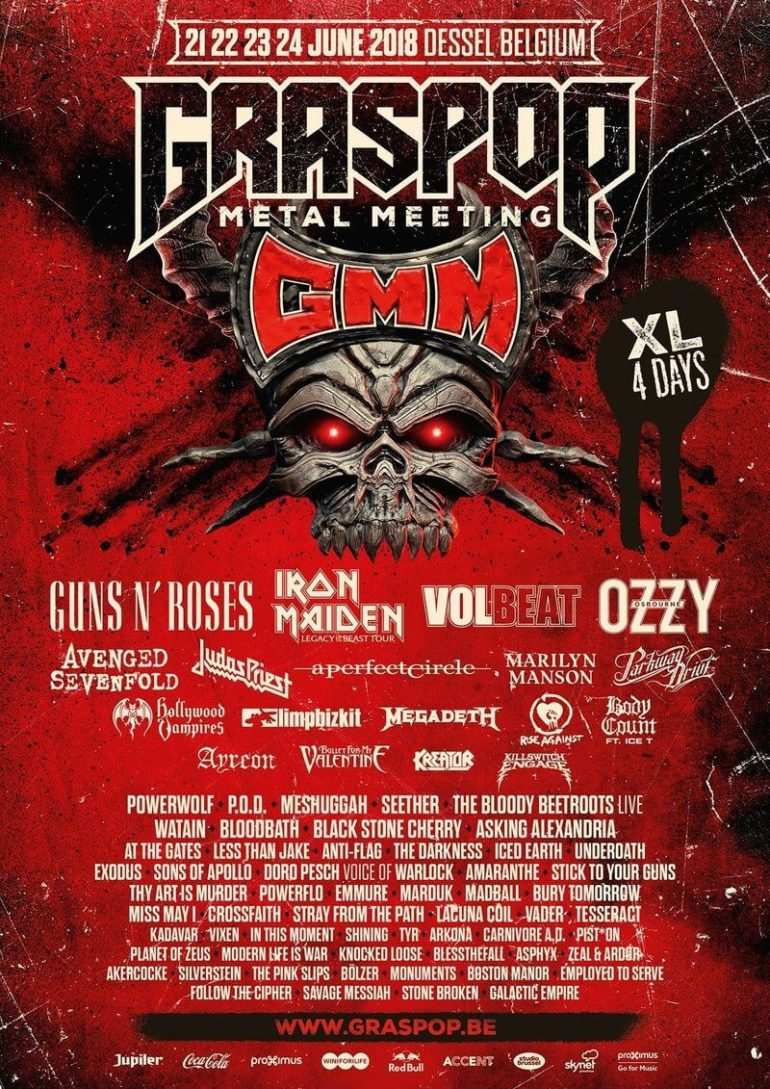 Graspop 2018 announces 25 new names and Volbeat as headliner