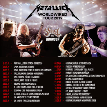 Metallica announce European tourdates 2019. Amsterdam on June 11th.